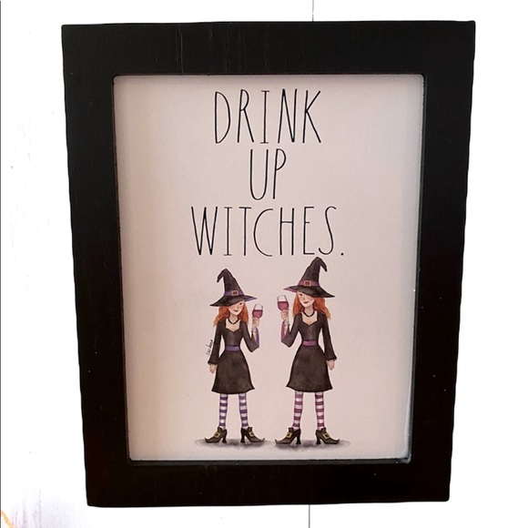 Rae Dunn DRINK UP WITCHES wooden sign